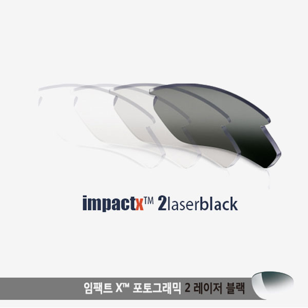 익셉션 플립업 렌즈 임팩트X2 변색렌즈 레이저 블랙