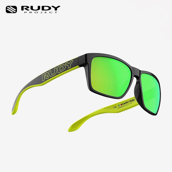 루디프로젝트 RUDY PROJECT/스핀호크 아웃라인 크리스탈 메탈블랙 옐로우플루오_블랙/멀티레이저 라임 SP716991-0M03/SPINHAWK OUTLINE MULTILASER LIME_E1R9954BK