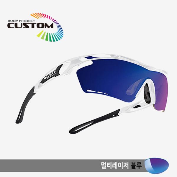 루디프로젝트 RUDY PROJECT/트랠릭스XL 화이트커스텀/멀티레이저 블루/SP393969BKZ/TRALYX XL WHT CUSTOM/MULTI LASER BLUE