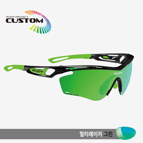 루디프로젝트 RUDY PROJECT/트랠릭스 블랙커스텀/멀티레이저 그린/SP394142GR/TRALYX CUSTOM/MULTI LASER GREEN